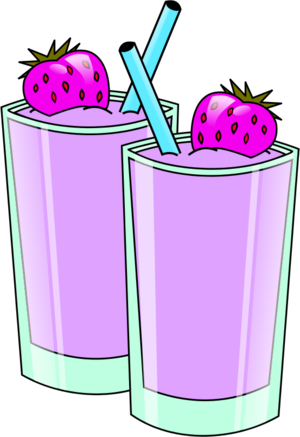 Strawberry Smoothie Vector Clip Art