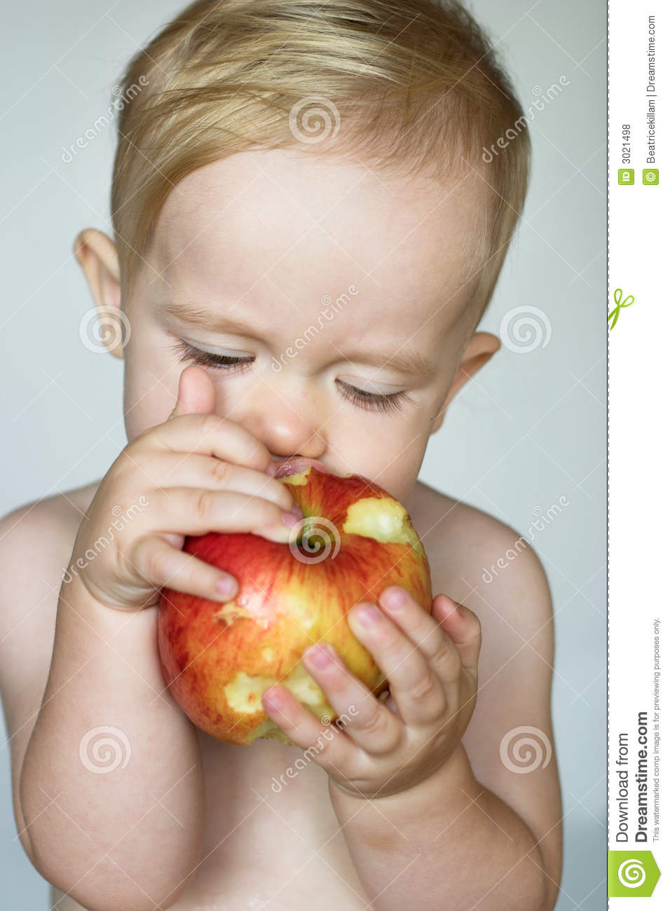 Toddler Eating Apple Royalty Free Stock Photos   Image  3021498