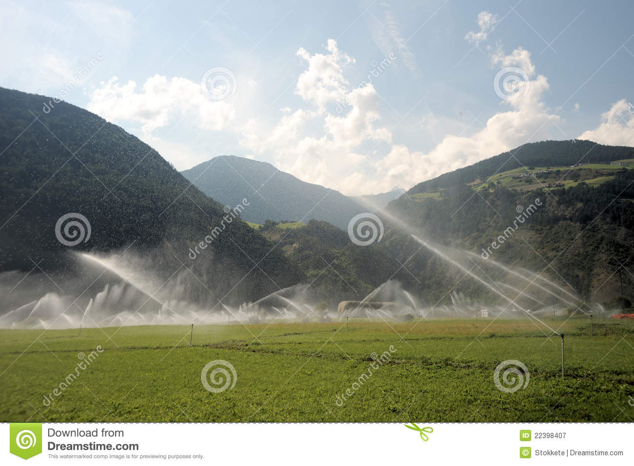 Water Sprinklers Royalty Free Stock Photography   Image  22398407