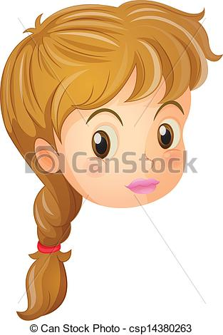 Art Vector Of A Pretty Face Of A Girl   Illustration Of A Pretty Face