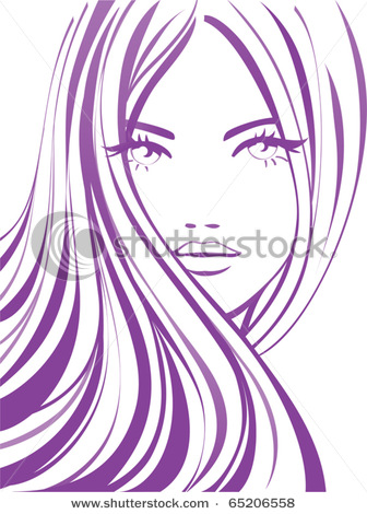 Beautiful Eyes And Long Eyelashes And A Pretty Face In This Vector