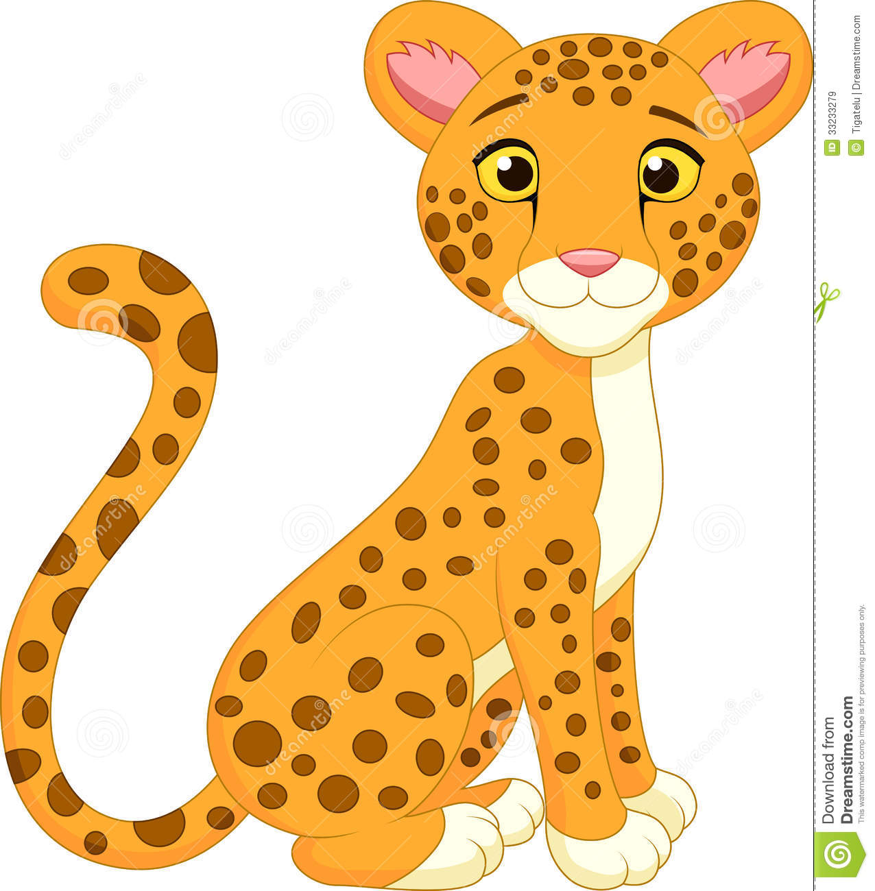 Cartoon Leopard Clipart - Clipart Kid