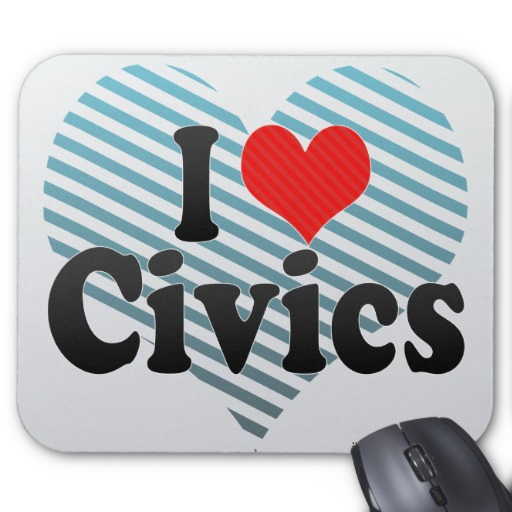 Love Civics Mouse Pad   Zazzle
