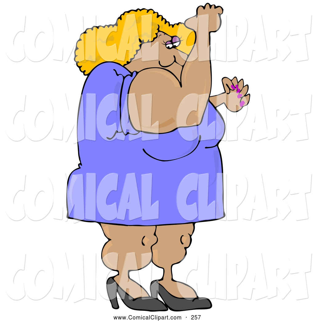 Manly Strong And Muscular Blond Body Builder Woman Wearing A Dress And