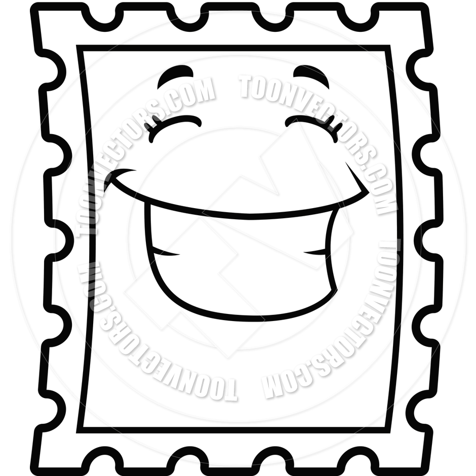 Postage Stamp Clip Art Black And White Stamp Black And White ...