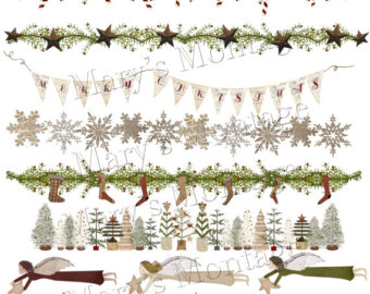 Primitive Christmas Borders Png Download