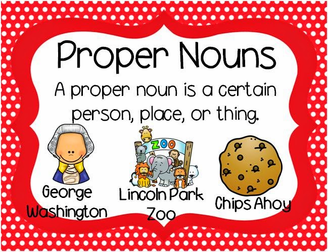 Clip Art Proper Nouns Clipart - Clipart Kid