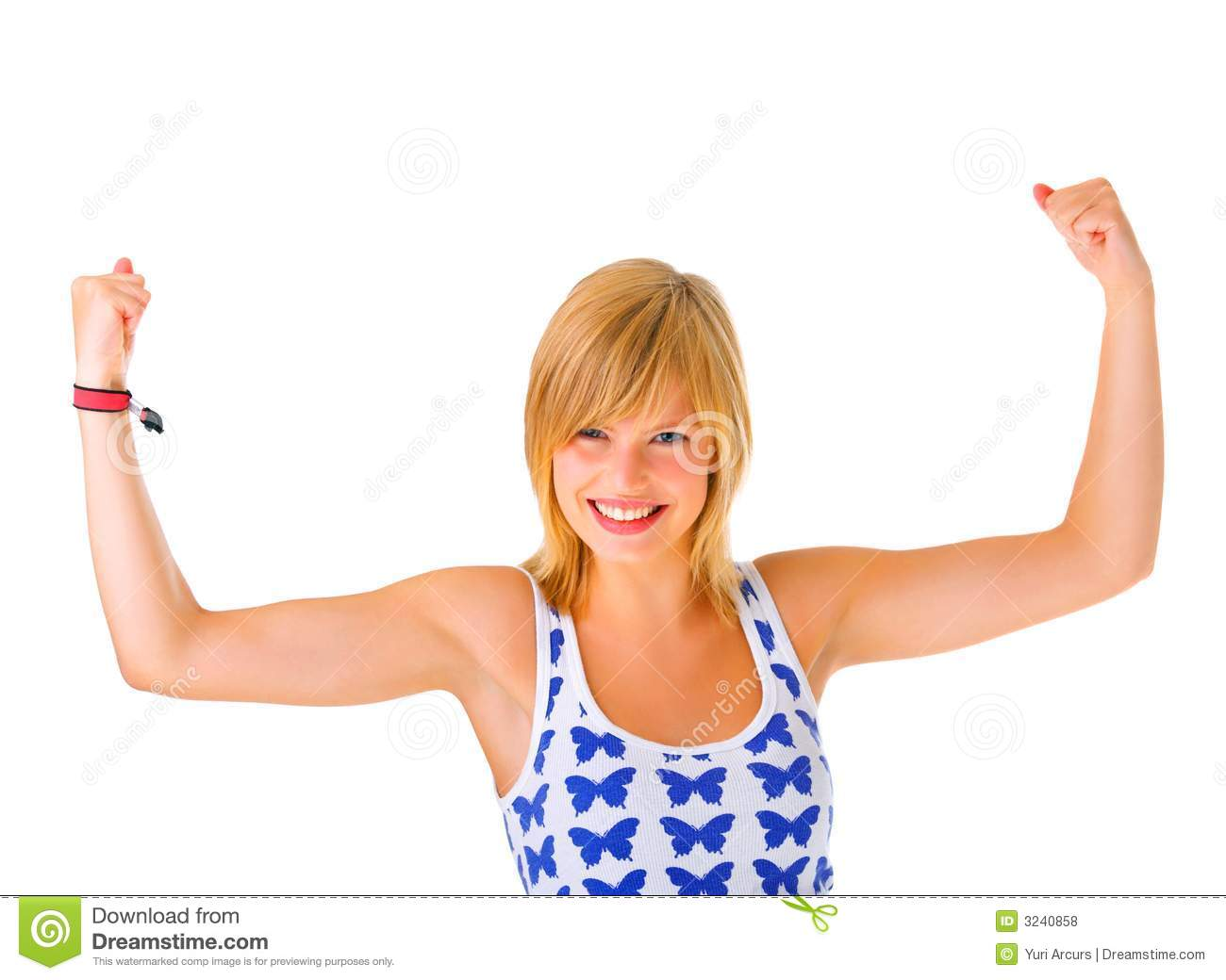 Royalty Free Stock Photos  Girl Flexing Her Biceps  Image  3240858