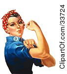 Strong Woman Clipart Clipart Illustration Of A