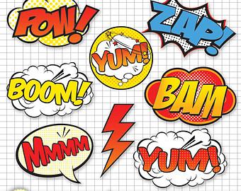Clip Art Comic Book Clipart clip art comic book clipart kid superhero digital fil es png files hero book