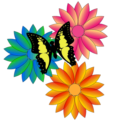 Wedding Flowers  Flowers And Butterflies Clipart