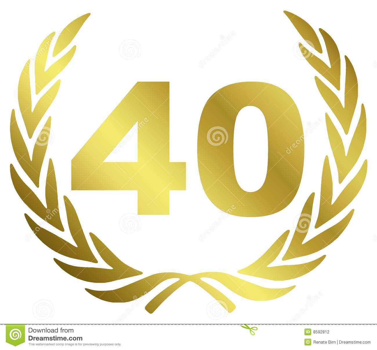 40 Anniversary Stock Photography   Image  8592812