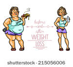 Art Vector Before And After Weight Loss   1000 Graphics   Clipart Me