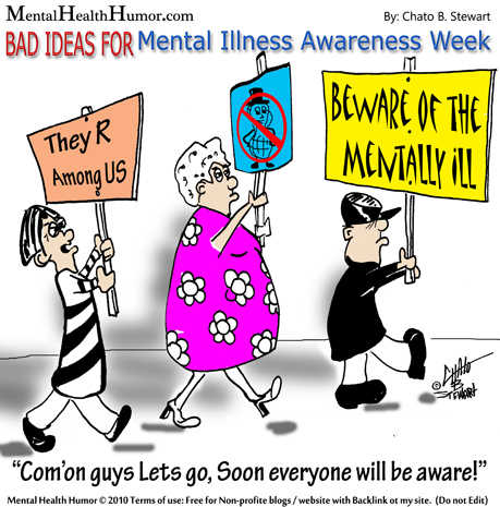 Awareness Week By Chato Stewart For Mental Health Humor Image Clipart