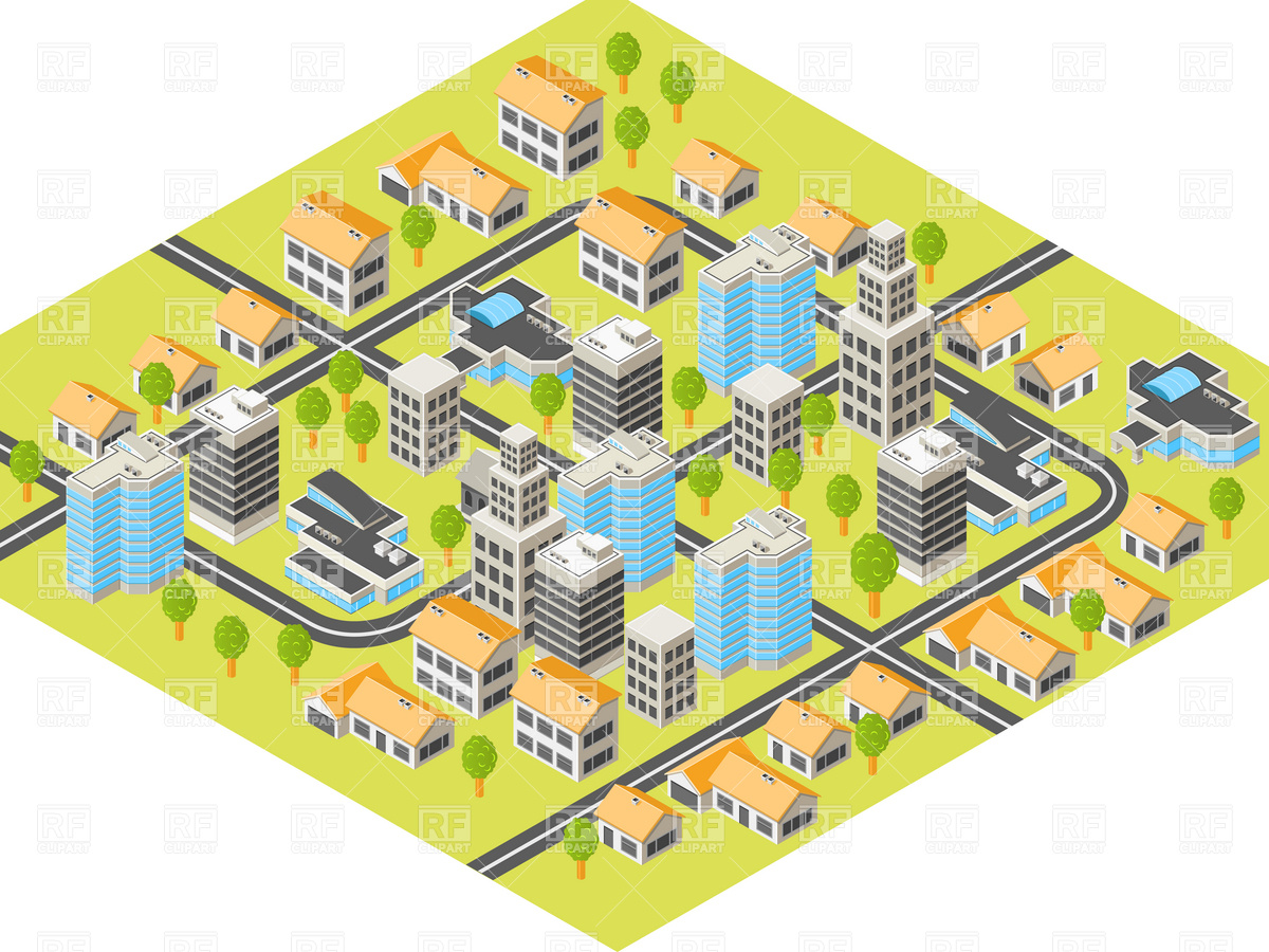 Buildings And Roads 4770 Download Royalty Free Vector Clipart  Eps