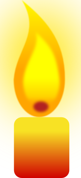 Burning Candle Clipart - Clipart Kid