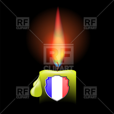 Burning Candle And French Shield 96279 Download Royalty Free Vector