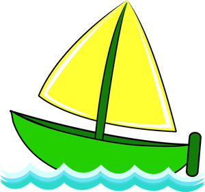 Free Sailboat Clip Art Image   Cute Little Sailboat On Waves Of Water