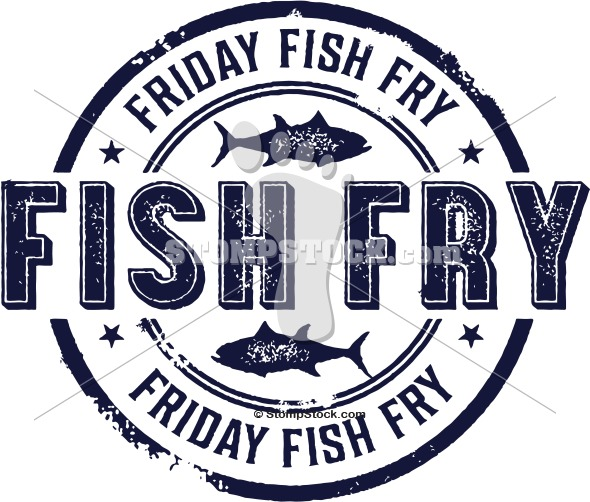 Friday Fish Fry Logo   Stompstock   Royalty Free Stock Vector Rubber