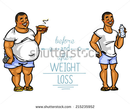 Funny Cartoon Weight Loss Before And After Clipart   Free Clip Art