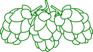 Hops Green Outline Clip Art At Clker Com   Vector Clip Art Online