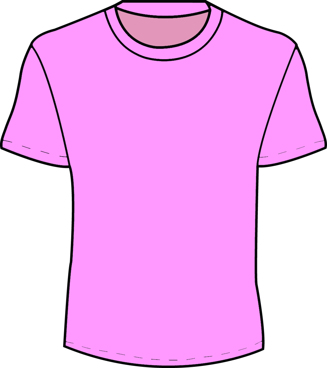 T shirt template clipart clipart suggest for Pink t shirt template