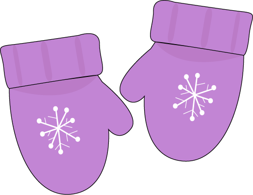 Purple Mittens Clip Art   Pair Of Purple Mittens With A Snowflake