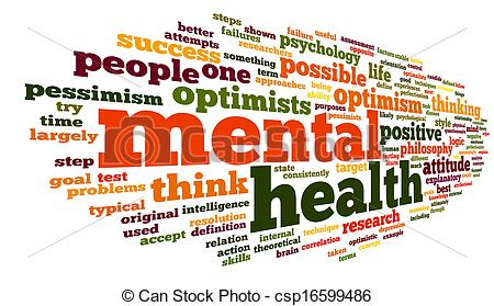 Stock Illustration Of Mental Health In Word Tag Cloud   Mental Health