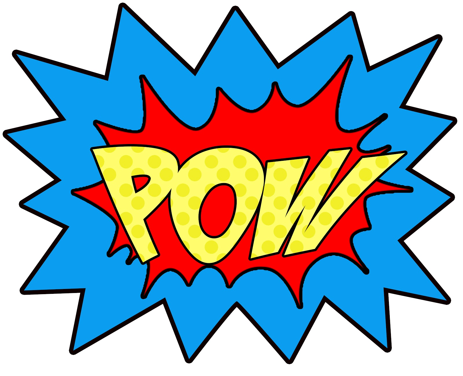 Superhero Pow Signs   Clipart Best