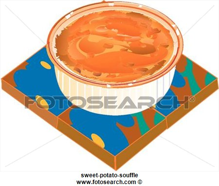 Sweet Potato Souffle Sweet Potato Souffle Foodshapes Illustrations