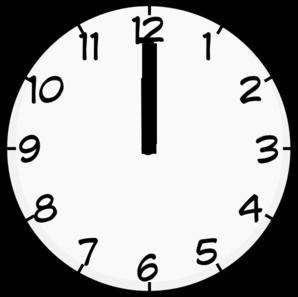 12 O Clock Clip Art At Clker Com   Vector Clip Art Online Royalty