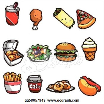 American Food Clipart Cartoon Fast Food Icon