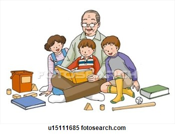 And Grandchildren Illustration Front View U15111685   Search Clipart
