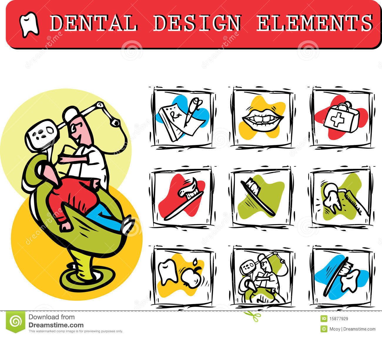 At Dentist S Office Icons Set Clipart Royalty Free Stock Images