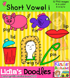 Blog Hoppin   Short Vowel Clip Art And Some Freebies