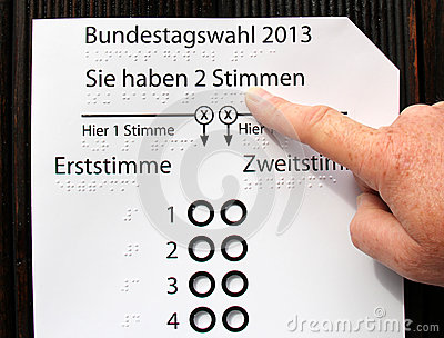 Braille Blind Person S Self Help Voting Card