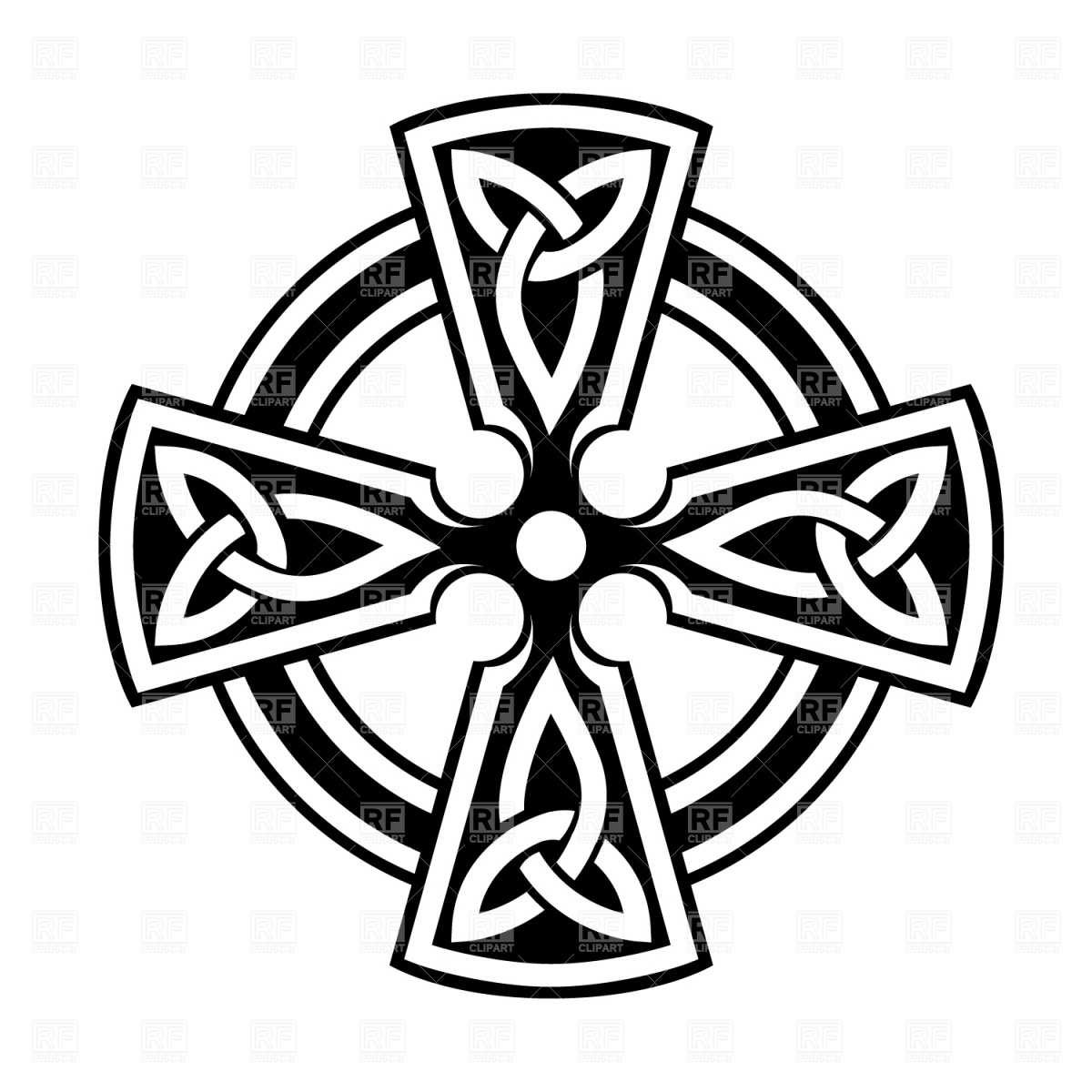 Celtic Cross Design Elements Download Royalty Free Vector Clip Art
