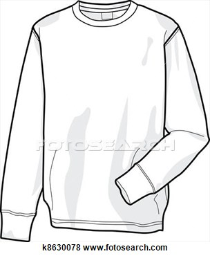 Clip Art Of Sweatshirt K8630078   Search Clipart Illustration Posters