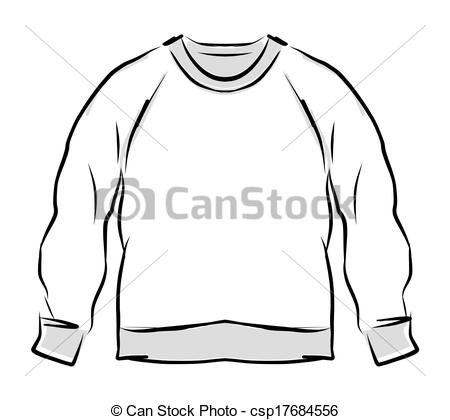 Clipart Vector Of Abstract Sweatshirt Sketch For Your Design