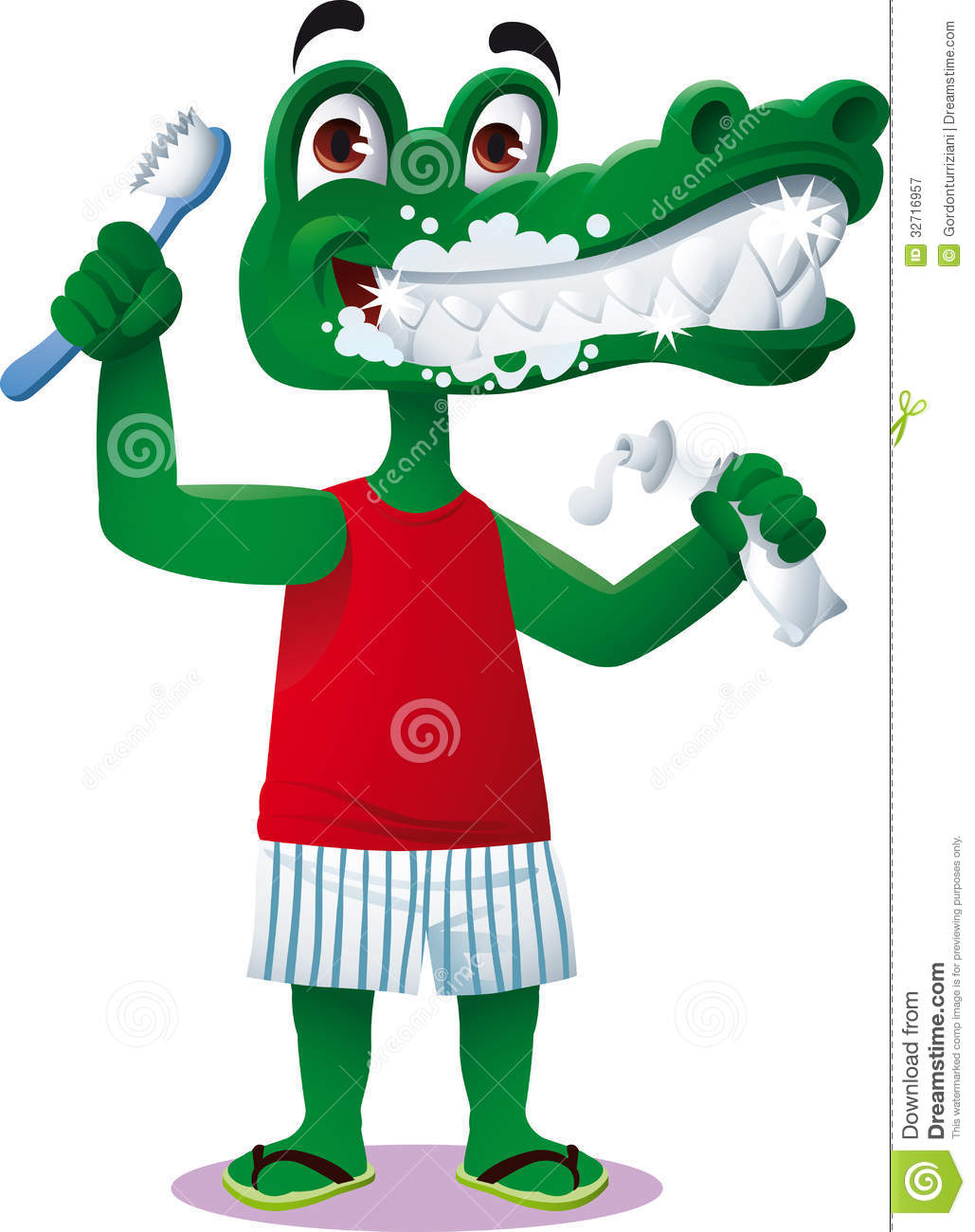 Crocodile Dental Care Royalty Free Stock Photography   Image  32716957