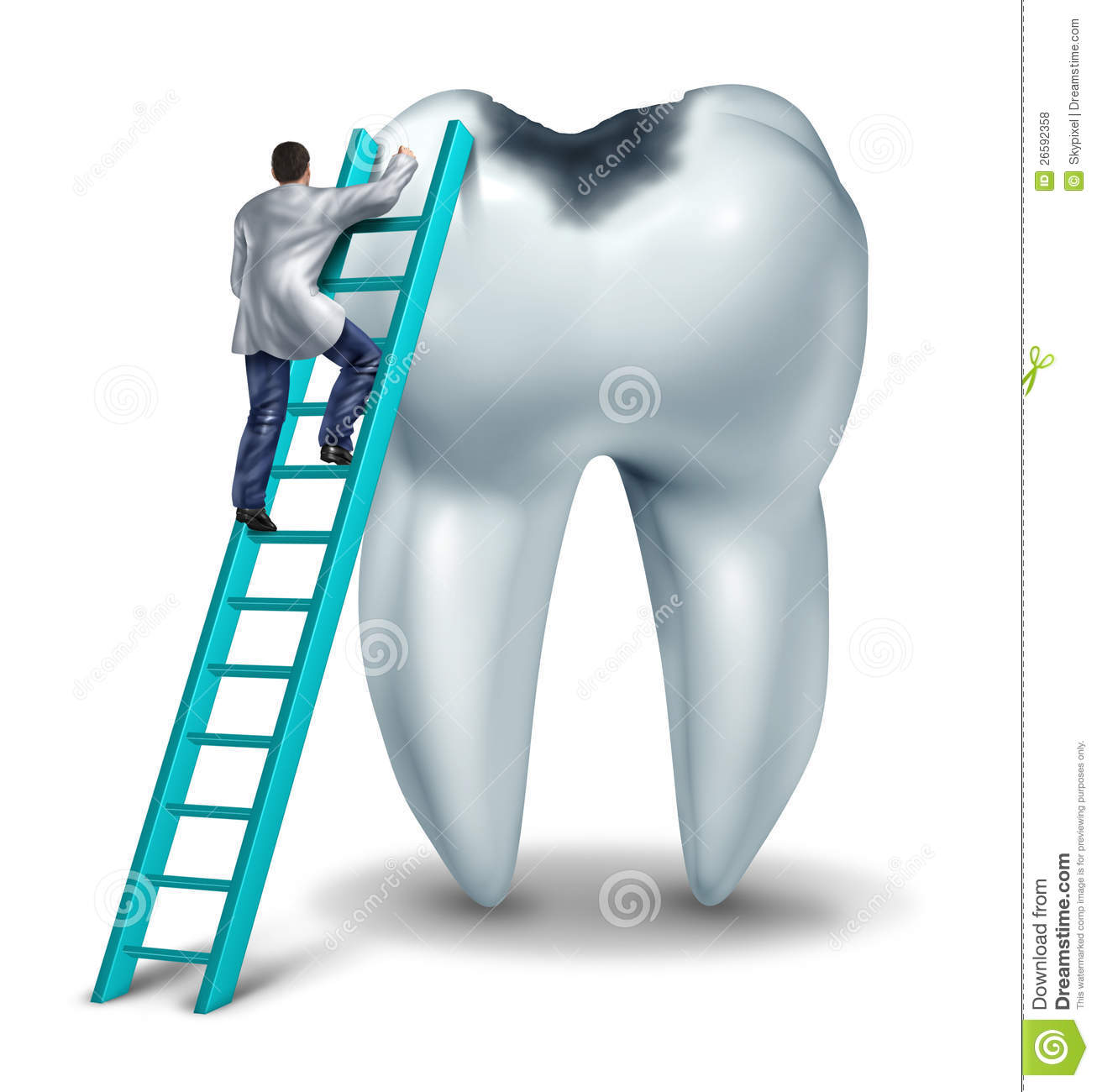 Dental Care Health And Medical Symbol With A Dentist Or Doctor In