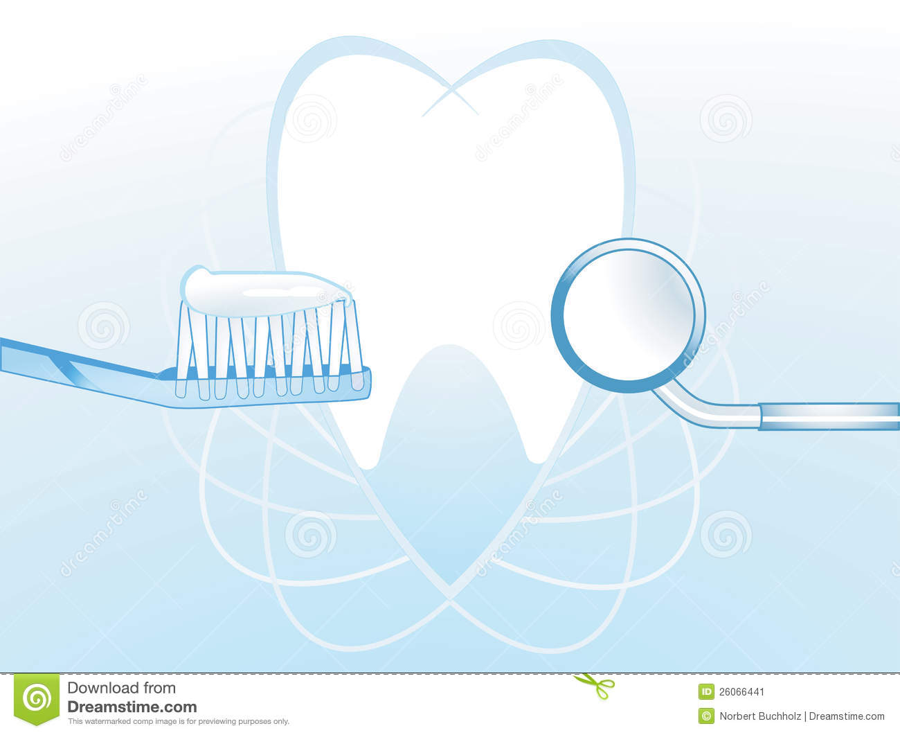 Dental Hygiene Illustration With A Tooth And Toothbrush