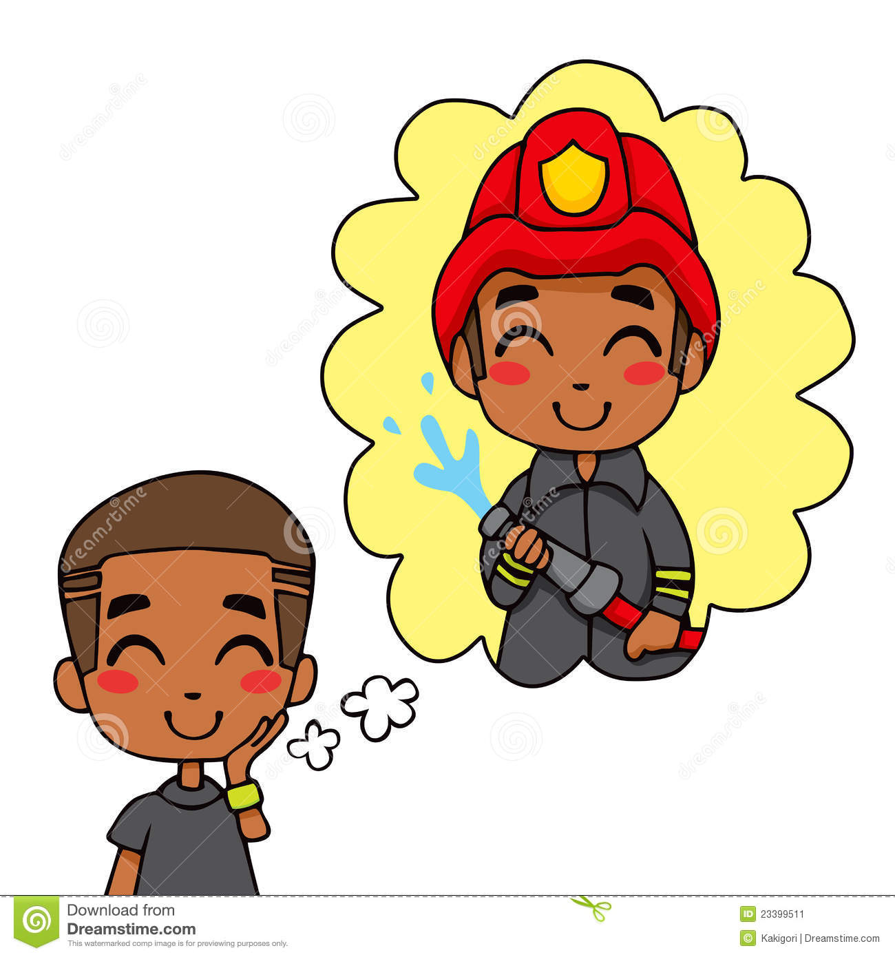 Firefighter Boy Clipart - Clipart Kid