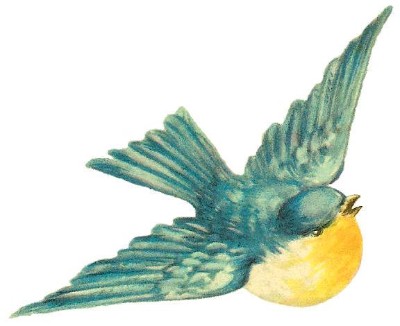 Vintage Bird Clipart - Clipart Kid