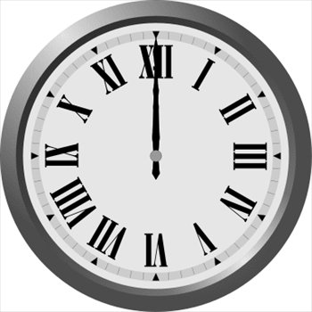 Free Roman Numeral Wall Clock Clipart   Free Clipart Graphics Images
