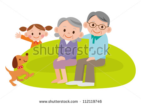 Grandchildren And Grandparents Clipart Grandparents Laughing With