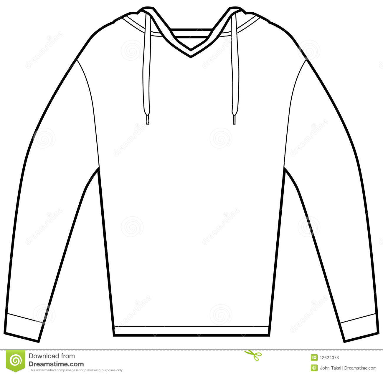 Hooded Pullover Shirt Royalty Free Stock Photos   Image  12624078