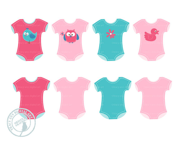 Onsies Clip Art Baby Clothes Clip Art Baby Layette Clip Art Baby