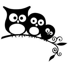 Owls More Een Tak Timbro Arthg325 Families Owls Svg Owl Dessin Hiboux