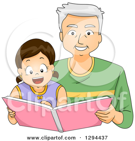 grandpa and granddaughter clipart clipart suggest
